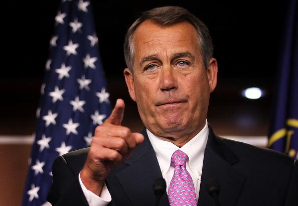 House Speaker Boehner Holds News Conference In Response To Obama